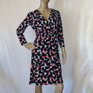 Ann Taylor Wrap dress in abstract pattern